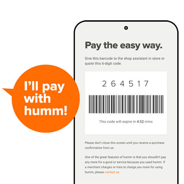 Pay instore barcode