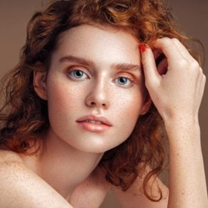 Tender portrait of a beautiful girl