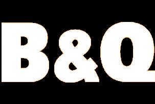 B&Q White Logo Fixed